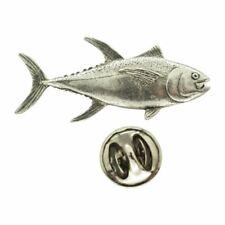 Yellowfin Tuna Pin ~ Antiqued Pewter ~ Lapel Pin