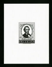 Liberia Stamps # C122 XF OG NH Black Proof Imperf