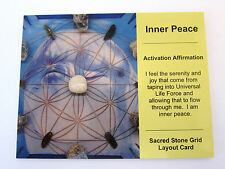 INNER PEACE Grid Card Crystal Healing Cardstock 4x5inch DOLPHIN ANIMAL TOTEM