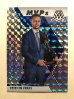 2019-20 Panini Mosaic MVPs Stephen Curry Silver Wave Prizms SP #299 - * RARE! *
