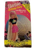 Vintage Barbie Birthday Party at Walt Disney World Epcot '94 [ VHS ] RARE!