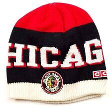 CCM NHL KV22Z RETRO TEAM LOGO KNIT HOCKEY HAT/BEANIE - CHICAGO BLACKHAWKS