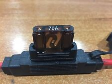Inline Blade Fuse Holder Maxi Type – 70 AMP Heavy Duty 8AWG Free 70 AMP Fuse x 1