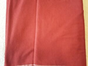 """Wool Blend Fabric Deep Red Color 66"""" Wide 7.3 Yards Long Sewing Garments Crafts"""