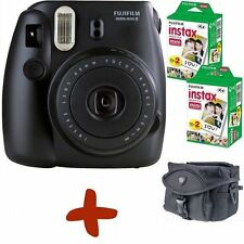 Bundle: fuji instax mini 8 black instant film camera + etui +40 coups + piles
