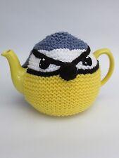 Blue Tit Bird Tea Cosy Knitting pattern by TeaCosyFolk