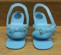 """Vintage REPLACEMENT DOLL SHOES High Heels BLUE Vinyl - fits SOME 11-13"""" dolls"""