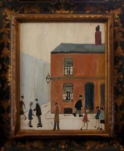 BILLY MUMFORD? SEAN GREENHALGH? Fine L.S.Lowry Oil Painting Copy- Beautiful Work