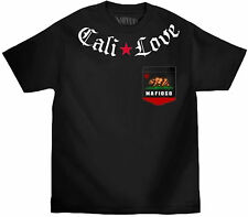 MAFIOSO CLOTHING [CALI LOVE] T-SHIRT MAFIA GANGSTER BEAR POCKET TATTOO INK LA  M