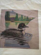 Minnesota T Tee Shirt Loon State Bird Commissioned Original Art New