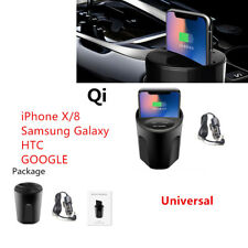 ABS Wireless Cup Phone Mount Charger USB Car Charging for Iphone Samsung GOOGLE