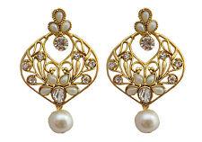 Jwellmart Indian Bollywood Ethnic Faux Pearl CZ Fashion Earrings Free Shipping
