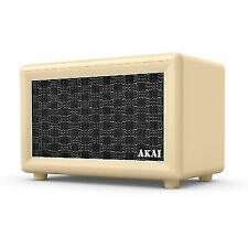 Akai A58052C Retro Bluetooth Speaker With Built-in Rechargeable Battery - Cream