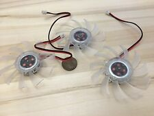 3 Pieces Clear FAN 12V 2Pin PC Video Graphics Card VGA Cooler Cooling 65mm C24
