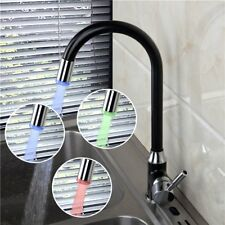 Cheap DEL Pivotant Bec robinet de cuisine Spray Lumière robinet évier Mélangeur lavabo robinet d'eau