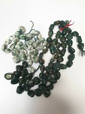 Joblot Tree Agate & Bloodstone Smooth Nugget Beads-  Jewellery making