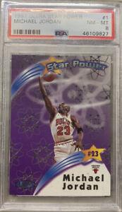 1997-98 ULTRA FLEER MICHAEL JORDAN STAR POWER CARD #1 GRADED PSA 8 NM - MINT 🔥