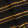 Black/Gold Stripe Woven, Fabric By The Yard