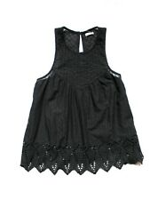 NEW HOLLISTER WOMEN'S EMBROIDERED EYELET CAMI TANK TOP T SHIRT TEE BLOUSE SZ XS