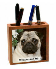 Pug    fawn color    ( 1 )   Personalized  Pencil and Pen Holder