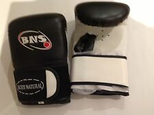 10 X PAIRS BOXING  MITTS -BLACK LEATHER- plus  10 FREE EZY HAND WRAP
