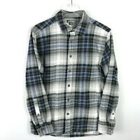 Eddie Bauer Men's Flannel Button Down Size M Multicolor Plaid Long Sleeve Collar