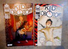 KID LOBOTOMY #1 & 2 cover A B Black Crown IDW comic book series set 2017