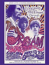 "Cream 1968 16"" x 12"" Photo Repro Concert Poster"