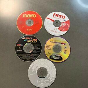 Creative ZEN V Series, Burn and Go, CD Stomper Nero and Nero 7 (5 Install disc)