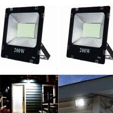 2X 200W LED Flood Light Cool White Floodlight Outdoor Garden Lamp Waterproof