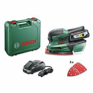 BOSCH GREEN 18V Cordless Detail / Multi Sander INCLUDES 2.5Ah Battery Kit & Case