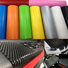 1 Roll Black 3D Carbon Fiber Vinyl Car Wrap Sheet Film Sticker 10*127cm DIY