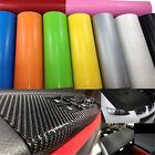 1 Roll Black 3D Carbon Fiber Vinyl Car Wrap Sheet Film Sticker 10*127cm DIY