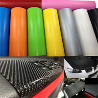 1 Roll Black 3D Carbon Fiber Vinyl Car Wrap Sheet Film Sticker 10127cm  A