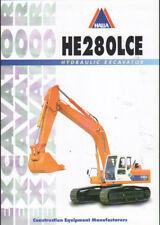 "HALLA ""HE280LCE"" Tracked Hydraulic Excavator Brochure Leaflet"