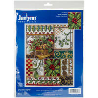 """Janlynn Counted Cross Stitch Kit 11""""X14""""-Winter Montage (14 Count), 17-0104"""