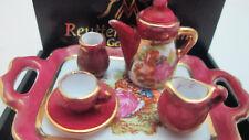 Dollhouse Tea Set Red Lustre Limoges Style 1.350/5 Reutter Miniature #2