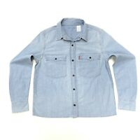 Levi's Women's Cotton Denim Shirt In Stonewash Blue Size S