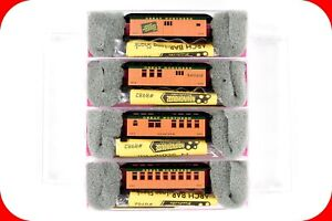 N Scale GN Great Northern OVERTON Old Time Passenger Car 4-Pack Set - ROUNDHOUSE