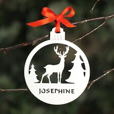 Personalised Rudolph Reindeer Christmas Tree Bauble Decoration .o. Fast Delivery