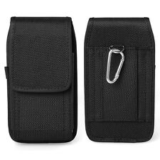Black Nylon Holster Belt Clip Case for Motorola Moto E4 / G5 Plus / Moto Z2 Play