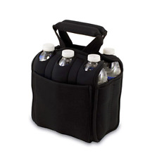 Picnic Time Six Pack Insulated Beverage Tote in Black
