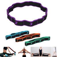 Latin Dance Training Fitness Pilates Yoga Elastic Stretch Resistance Band Bel QA