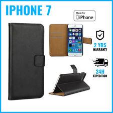Wallet Flip Case Cover Cas Coque Etui Portefeuille Hoesje Black For iPhone 7
