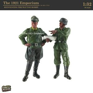 ✙ 1:32 Unimax Toys Forces of Valor WWII German Army Officer & Soldier Figure Lot