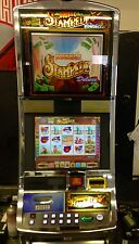 "WILLIAMS WMS BLUEBIRD SLOT MACHINE ""DOUBLE STAMPEDE DELUXE"" DUAL LCD MONITORS"
