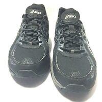 Asics Mens Gel-Venture 6 T7G1N Running Walking Shoes Black Gray Size 14 Us
