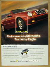 2000 Mercedes-Benz CLK320 convertible photo Goodyear Eagle Tires print Ad