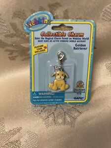 Webkinz Golden Retriever Charm  Brand New in Sealed Package Unused Code