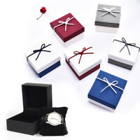 Wedding Unisex Bracelet Watch Jewelry Box Holder Case Bow Gifts Paper Packing